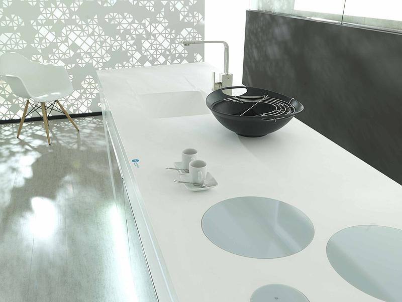 Encimeras Baño Krion:Porcelanosa apuesta por el Krion® en sus encimeras de cocina