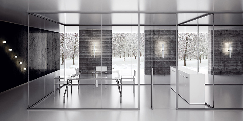 Arlex divide el espacio con su sistema de mamparas for Mamparas divisorias para oficinas