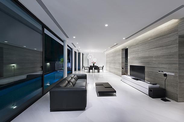 Elegante casa minimalista proyectada por Park Associates
