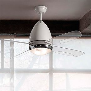 Cuatro modernos ventiladores para techo de faro barcelona for Ventiladores para oficina