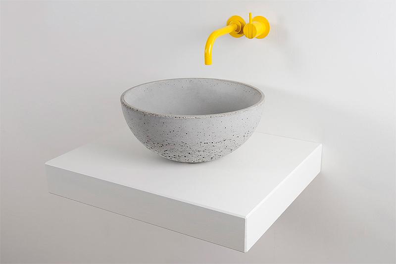 Lavabos Minimalistas De Hormigon De La Firma Kast - Lavabos-minimalistas