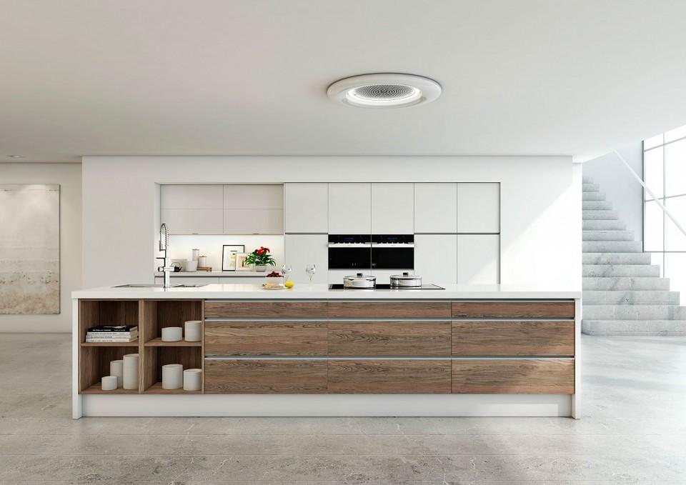 Electrodom sticos archivos interiores minimalistas - Cocina con campana decorativa ...