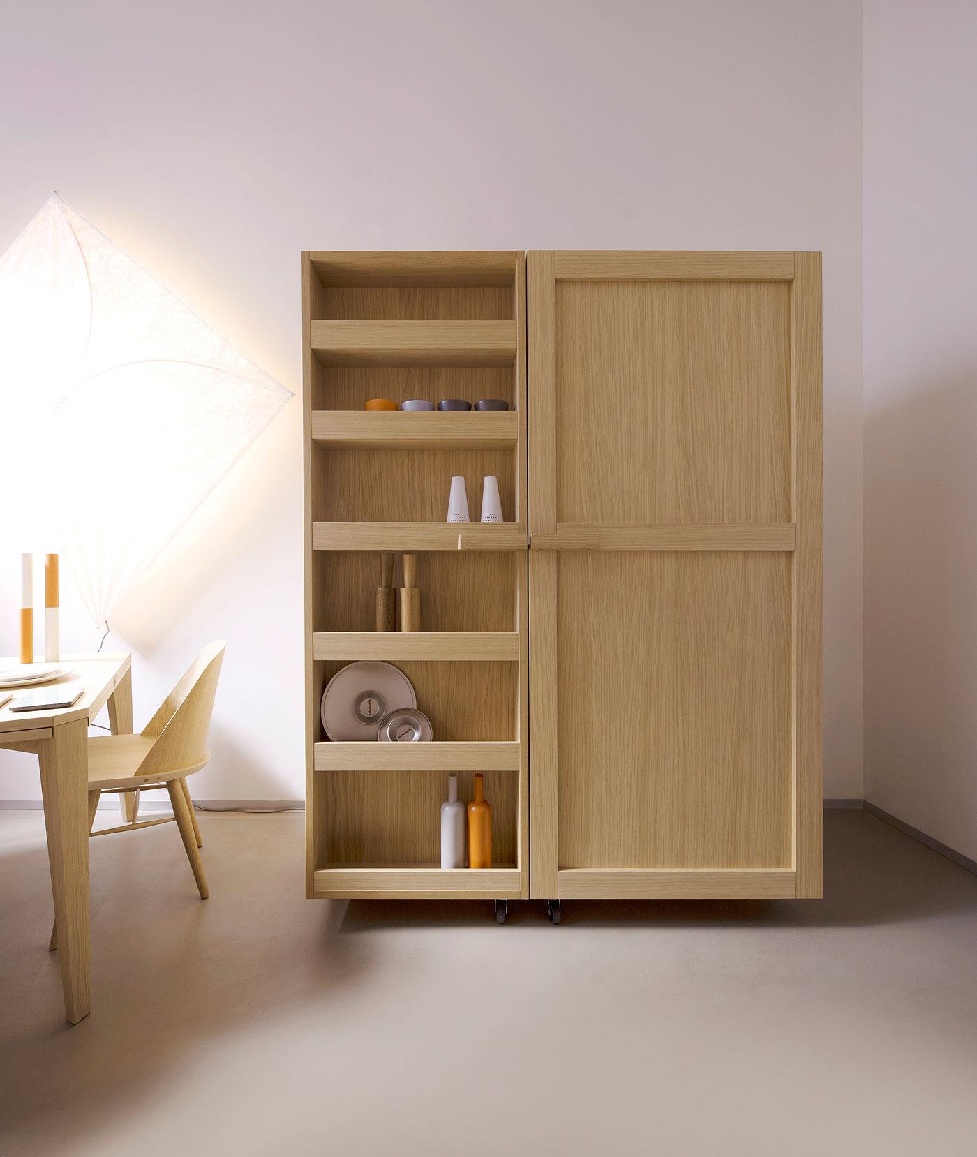 Alacena contempor nea en madera de roble de key cucine for Muebles de cocina para montar