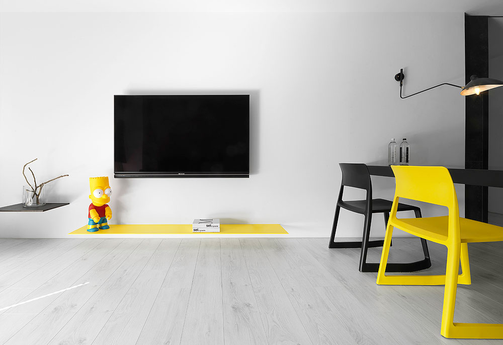 Apartamento en negro y amarillo por z axis design - Appartement modern design ...