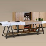 Contempor neo banco de cocina en madera y neolith for Mobiliario infantil montevideo