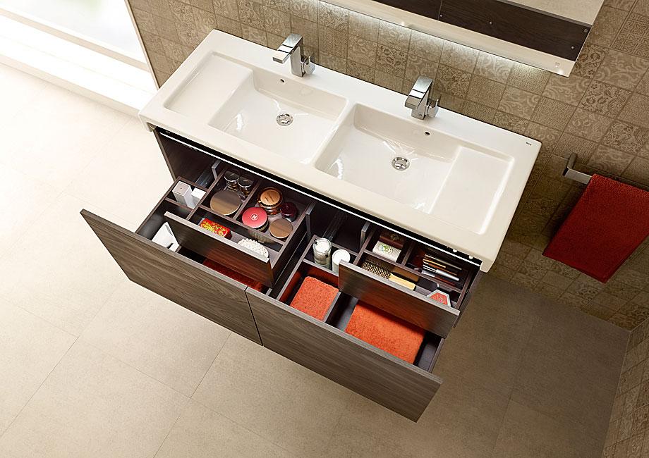 Mueble de baño con iluminación LED, altavoces y toma de ...