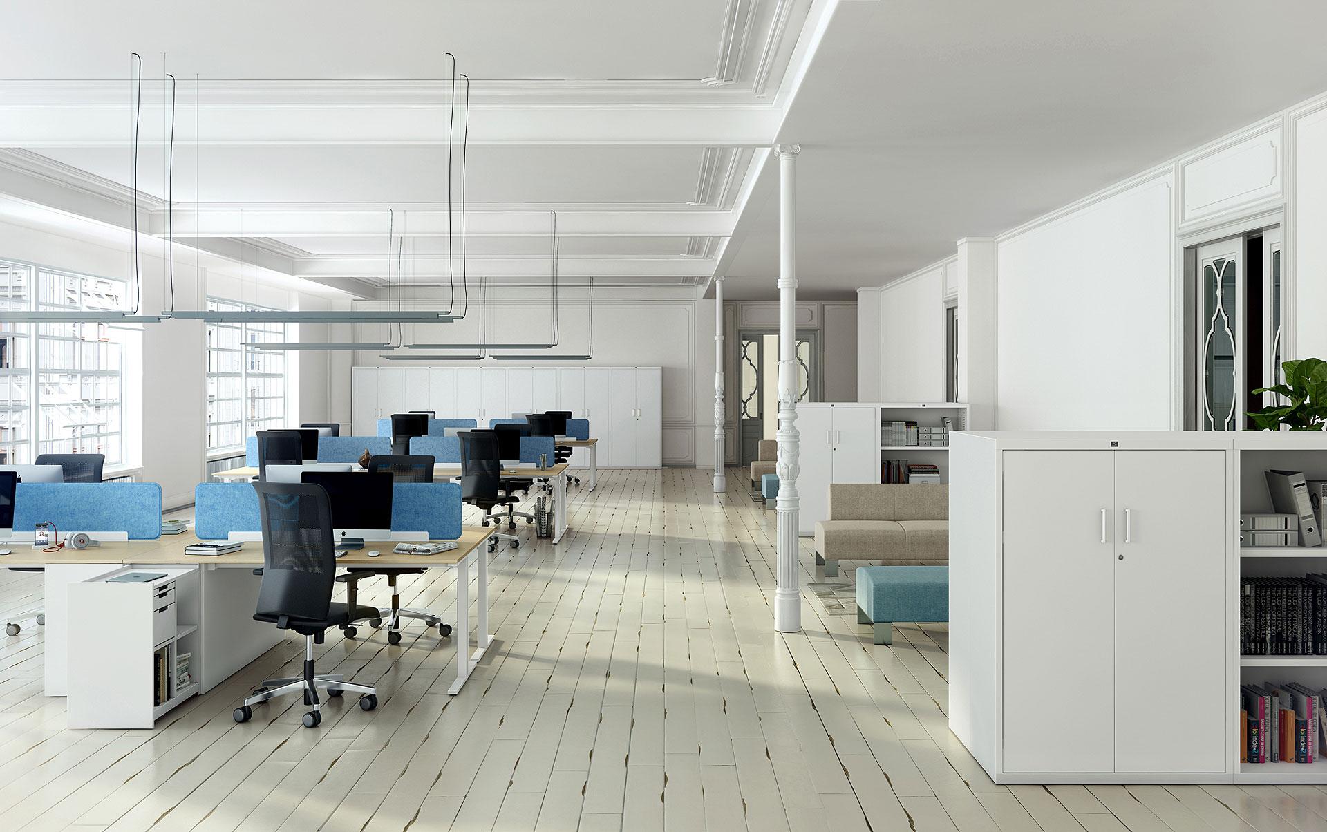 Nueva serie de mesas twork de jg group for Mobiliario oficina diseno