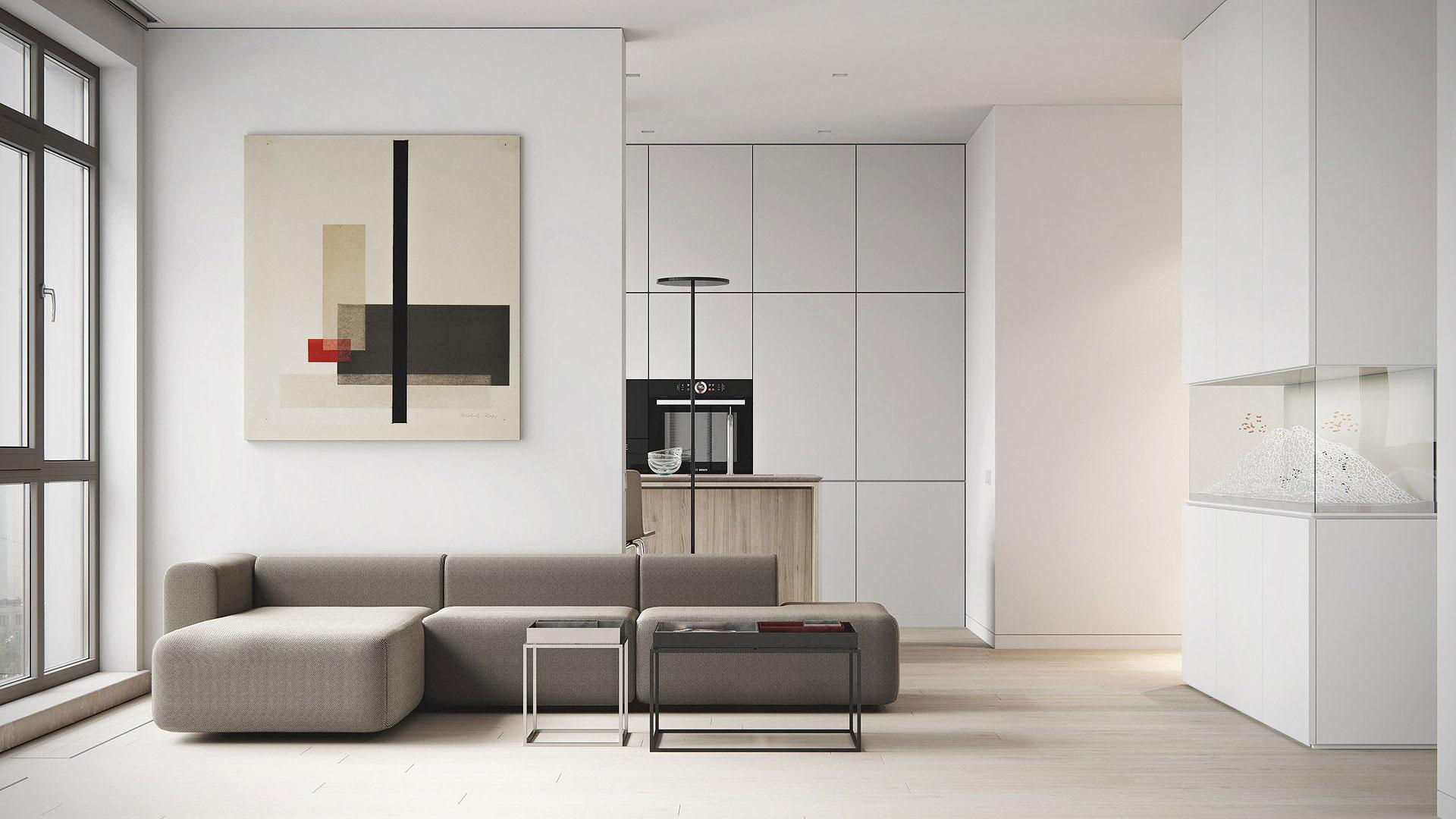 Minimalismo blanco y materiales naturales, por M3 Architects