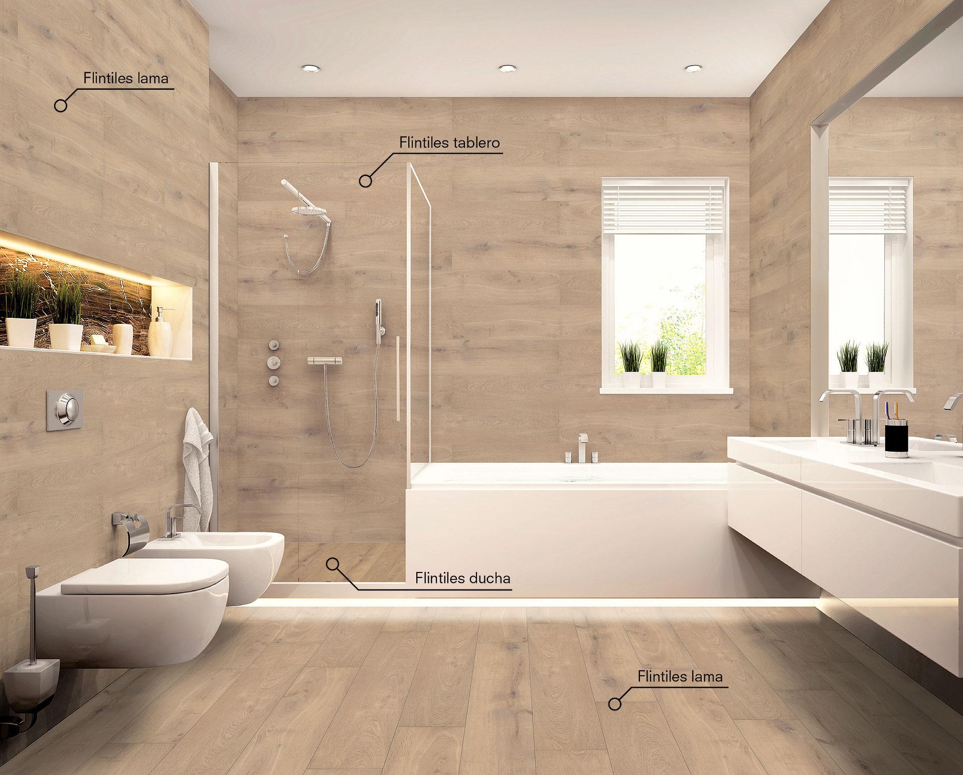 Como renovar suelos paredes y platos de ducha sin obras for Pavimentos rusticos para interiores