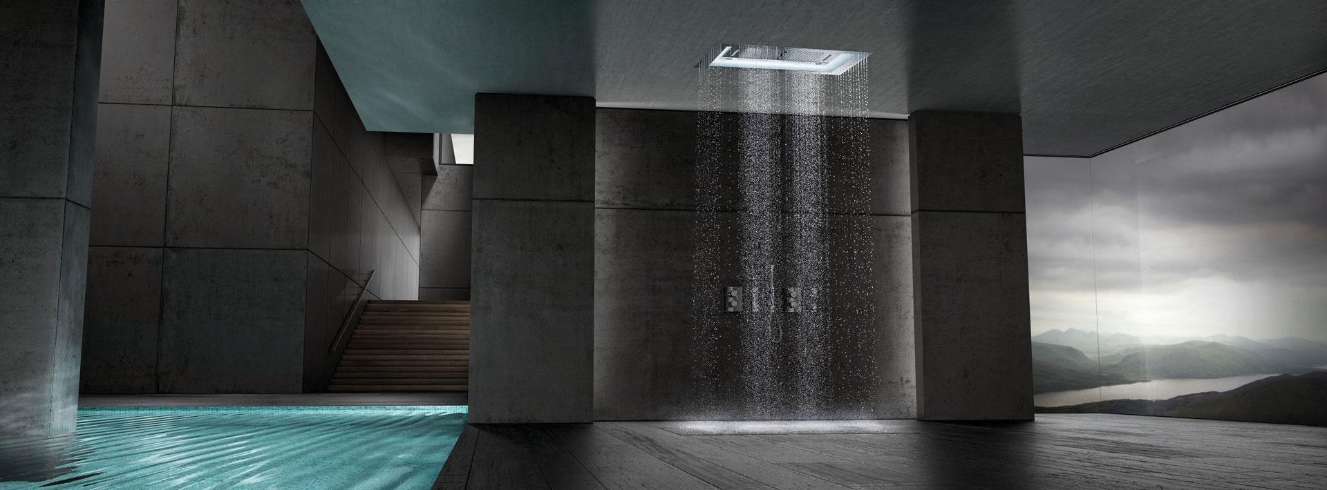 Aquasymphony de grohe beneficios del agua el color y la for Showroom grohe barcelona