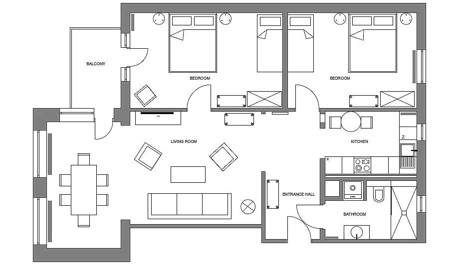 apartamento de vacaciones de loft kolasinski (20)