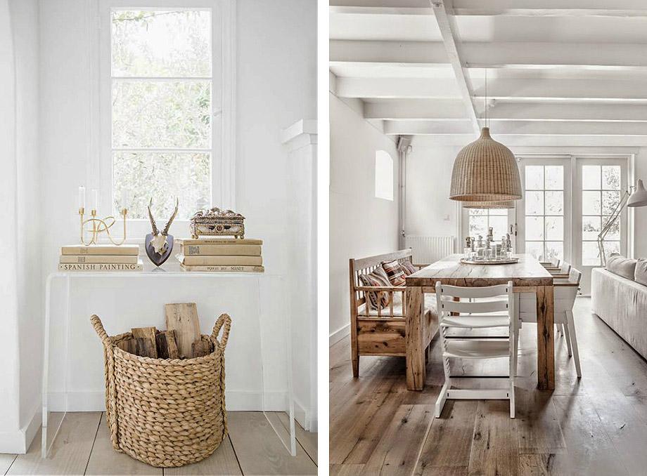 Interiores mediterráneos con los complementos de esparto de SKLUM -  Interiores Minimalistas