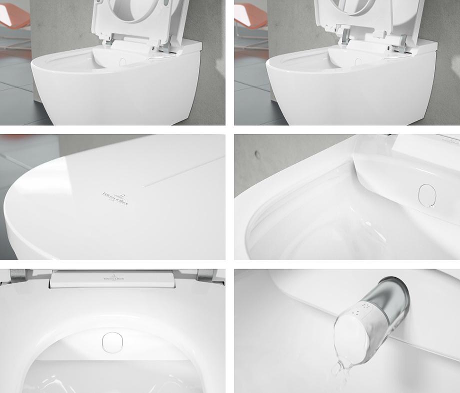 Villeroy und Boch/ S /Stratos Asiento de inodoro tapa en blanco
