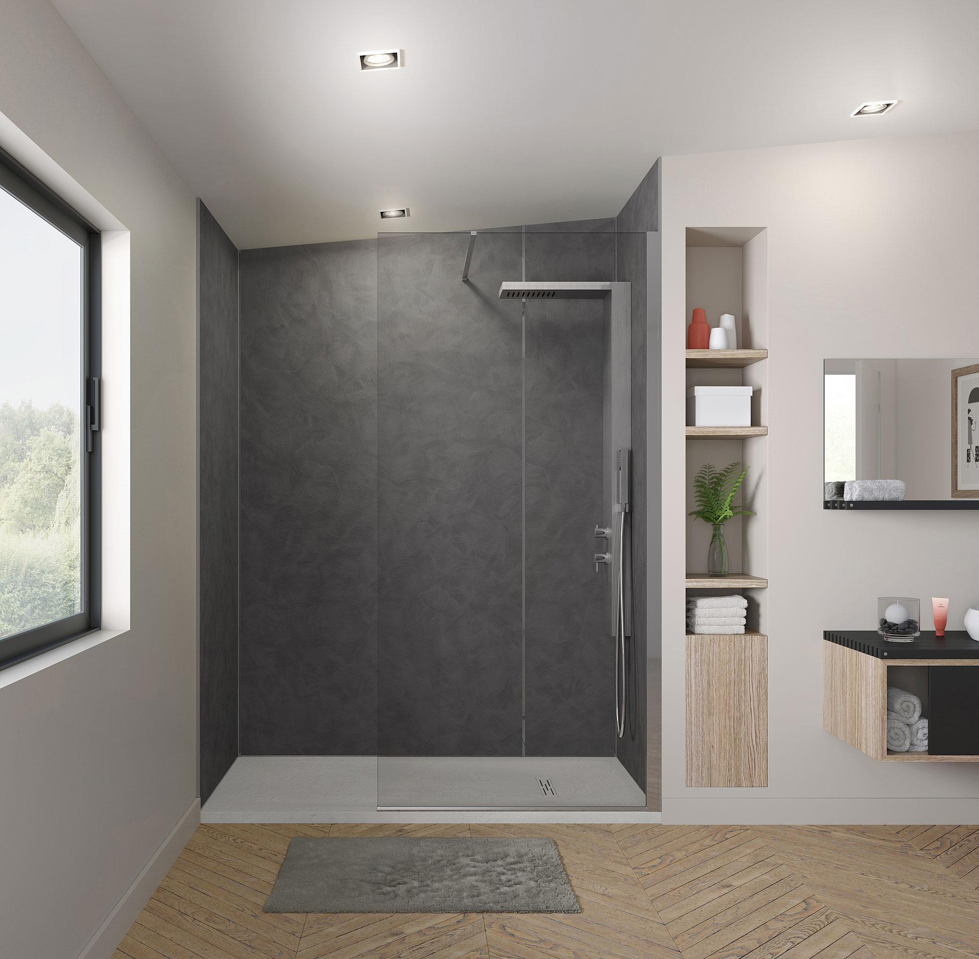 Grandform lanza la gama de paneles de ducha kinewall for Murales para banos modernos