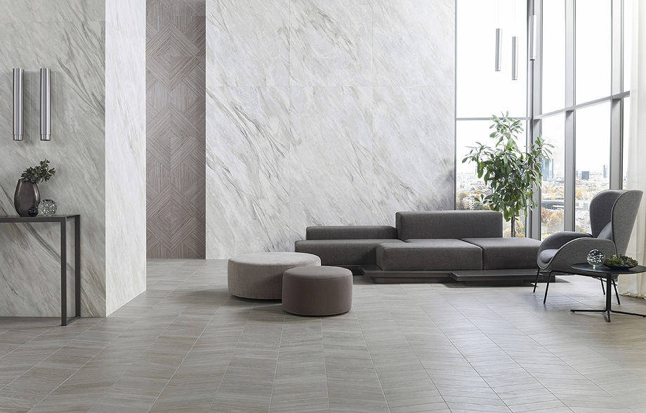 xlight storm grey polished + starwood eden minessota ash urbatek porcelanosa
