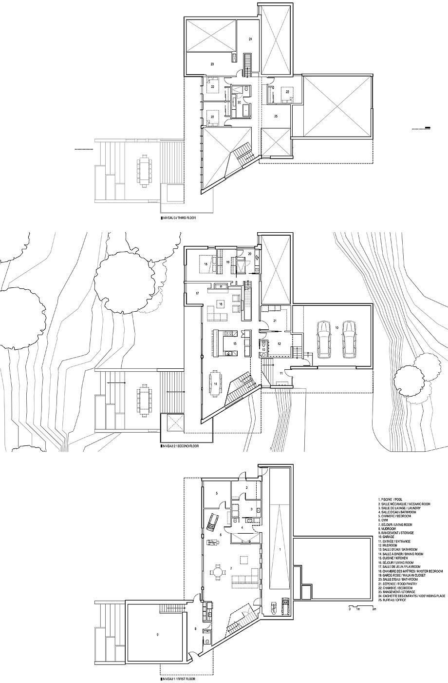 casa accostee de bourgeois lechasseur architects - planos (19)