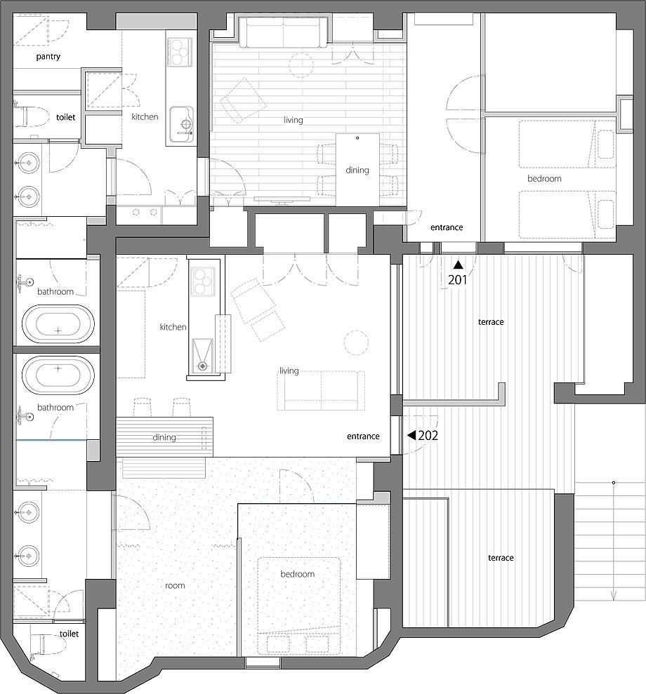 apartamento 202 en shibuya de hiroyuki owaga - foto kaku ohtaki (20)