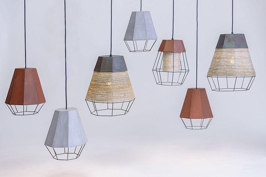 lamparas geometrica de michelle urtecho y cement design (0)