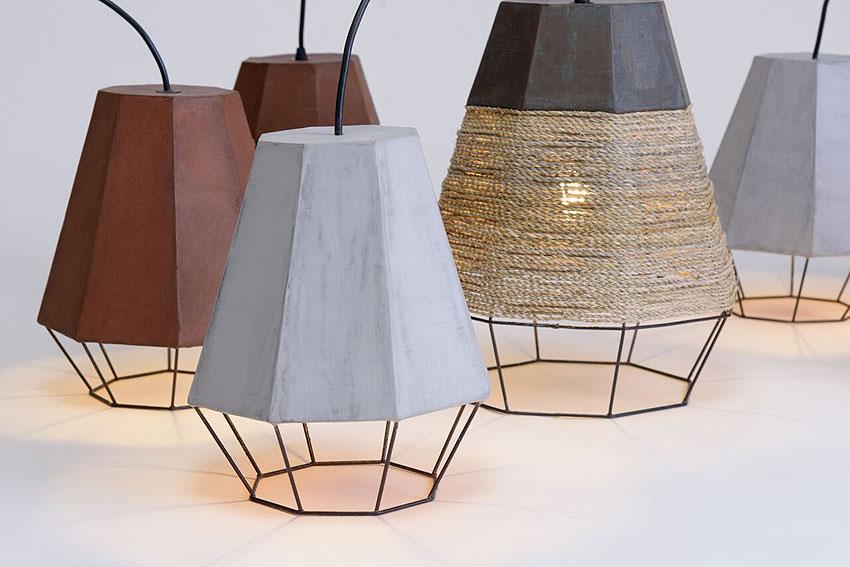 lamparas geometrica de michelle urtecho y cement design (2)