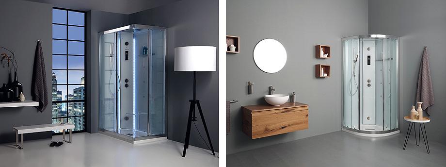 cabina de ducha whitespace rectangular y angular de grandform