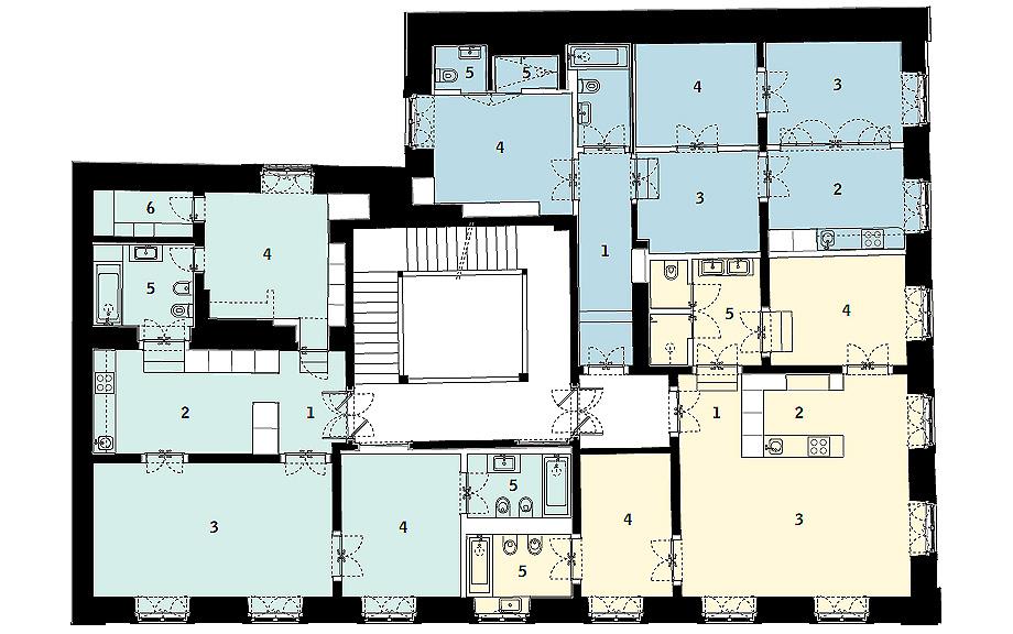 apartamentos pombalinos de aurora arquitectos - plano (43)