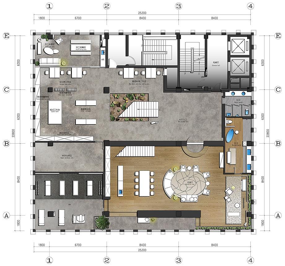 oficinas de tkstyle de jacky.w design - plano (22)