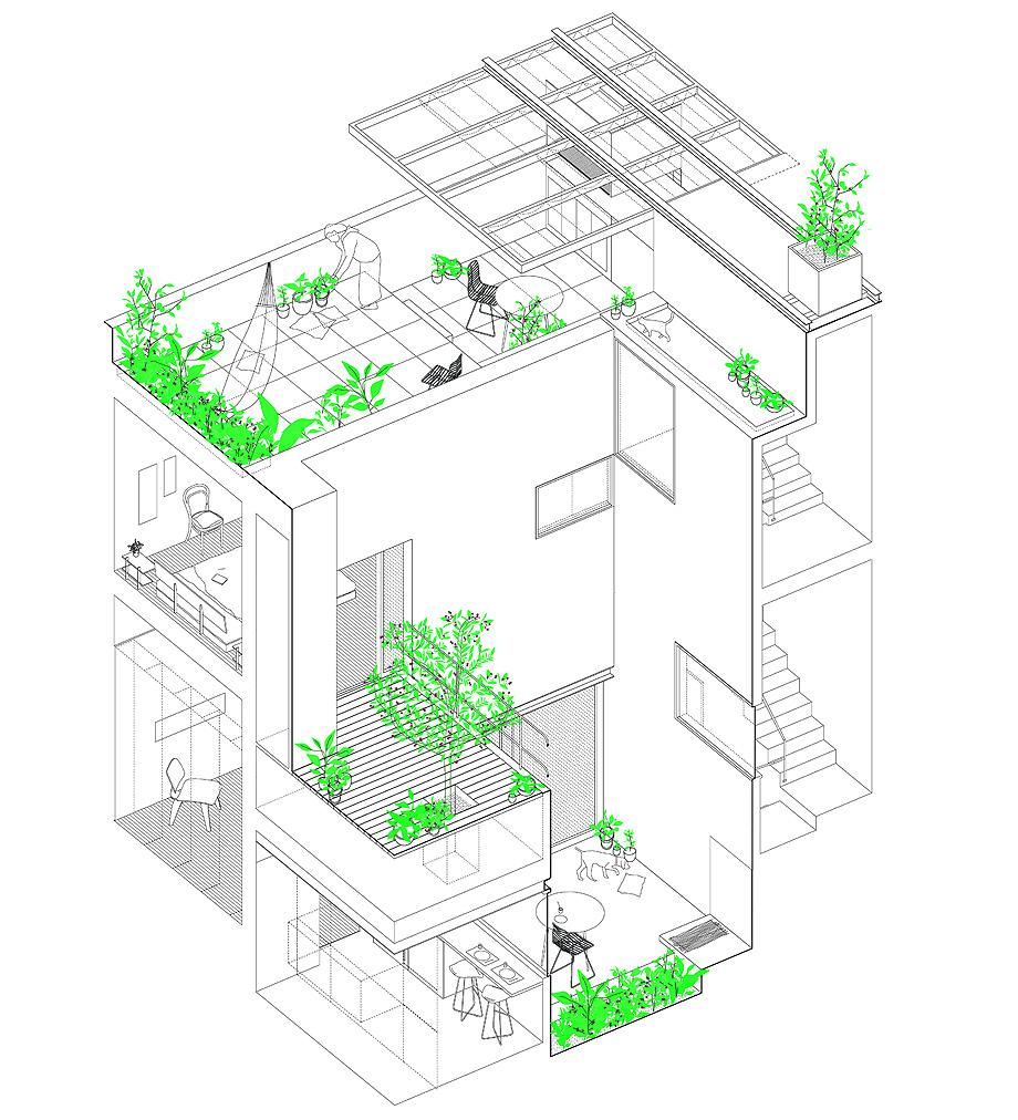 reforma vivienda ph thames por alonso & crippa - planimetría (29)