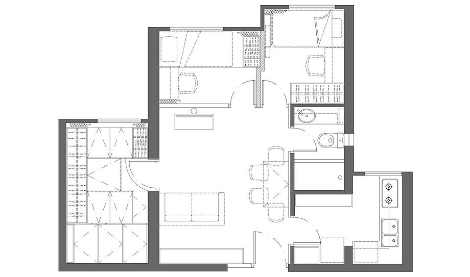 apartmento srk de human w design - plano (16)