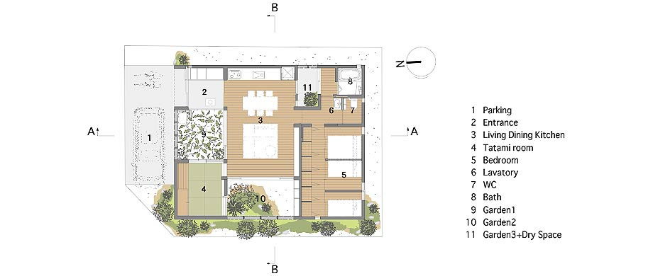 casa en akashi de arbol - foto plano (26)