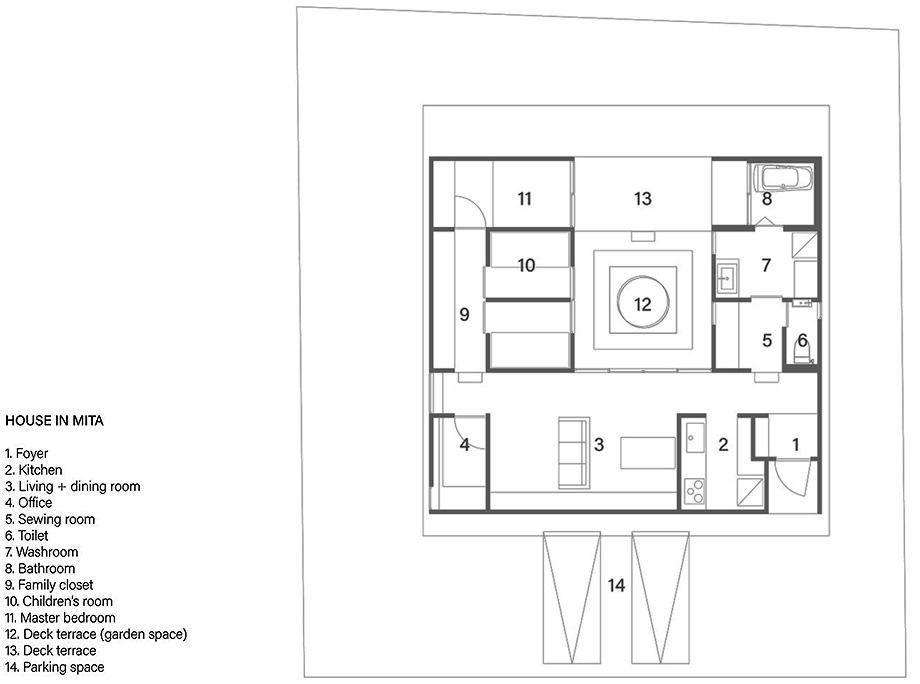 三田の家 平面図 EN