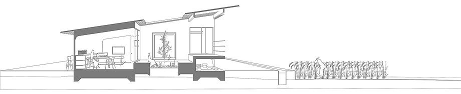 三田の家 断面図