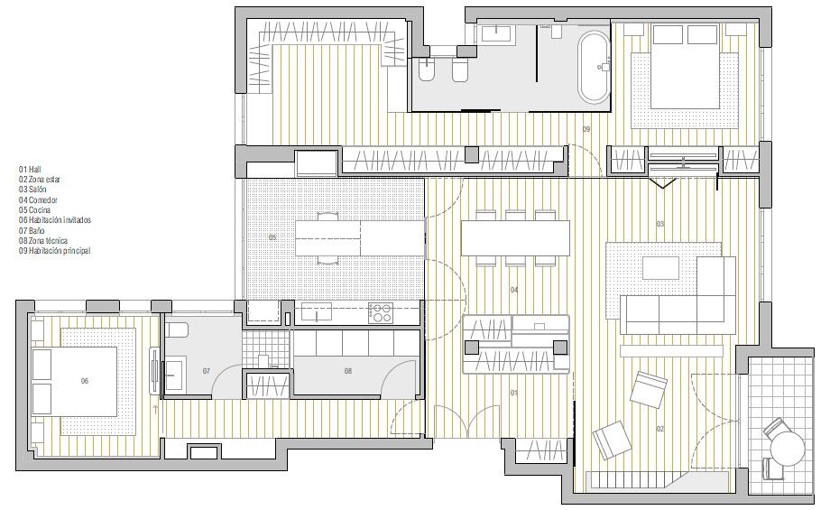 vivienda en bilbao de onyon huerto creativo - planta (27)