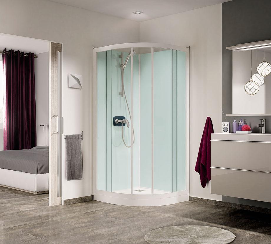cabina de ducha Kineprime Glass redonda R80-R90 de Grandform