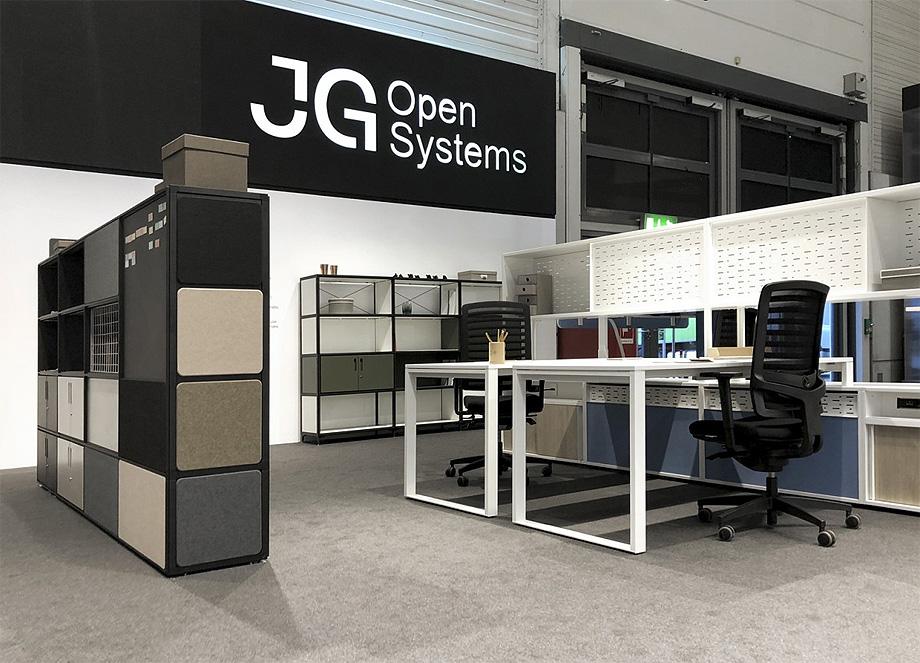 showroom de jg group en orgatec 2018 diseño roger vancells (1)