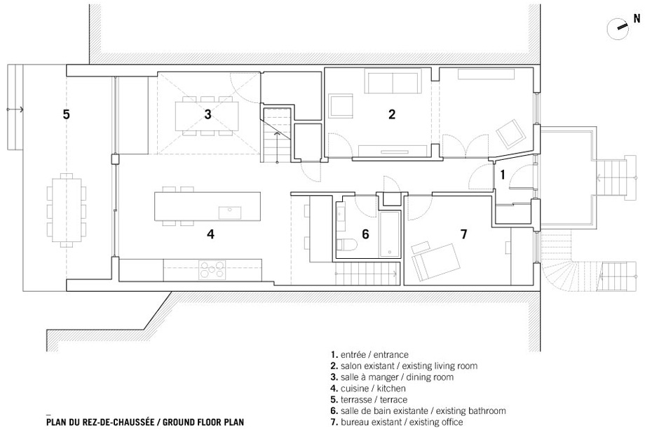 casa en montreal de naturehumaine - plano (15)