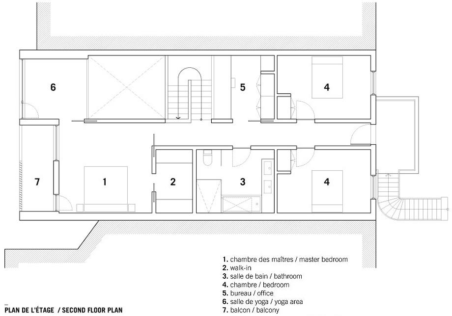 casa en montreal de naturehumaine - plano (16)