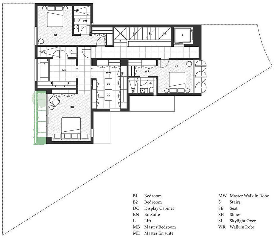 seven martin ct toorak de davidov architects - plano (4)