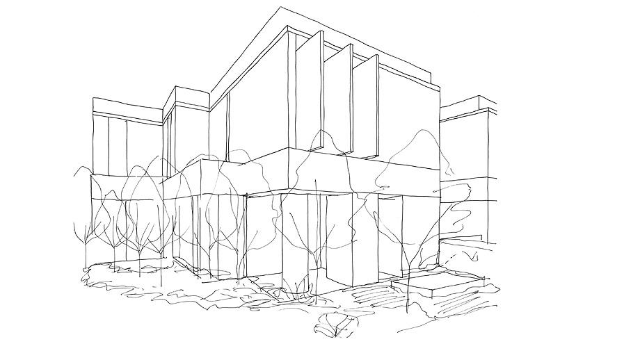 seven martin ct toorak de davidov architects - sketchs (8)