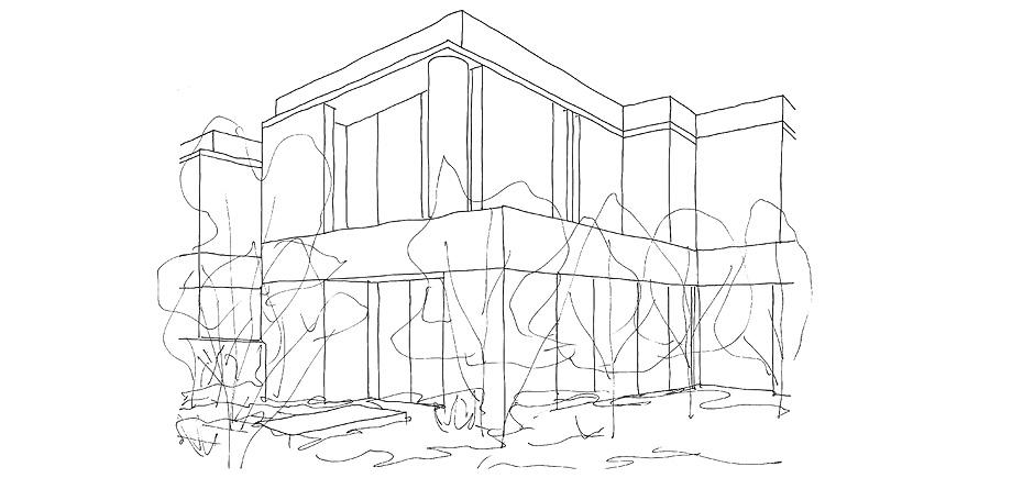 seven martin ct toorak de davidov architects - sketchs (9)