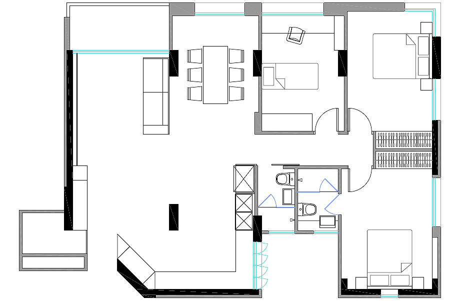 apartamento k de right angle studio - foto (11)