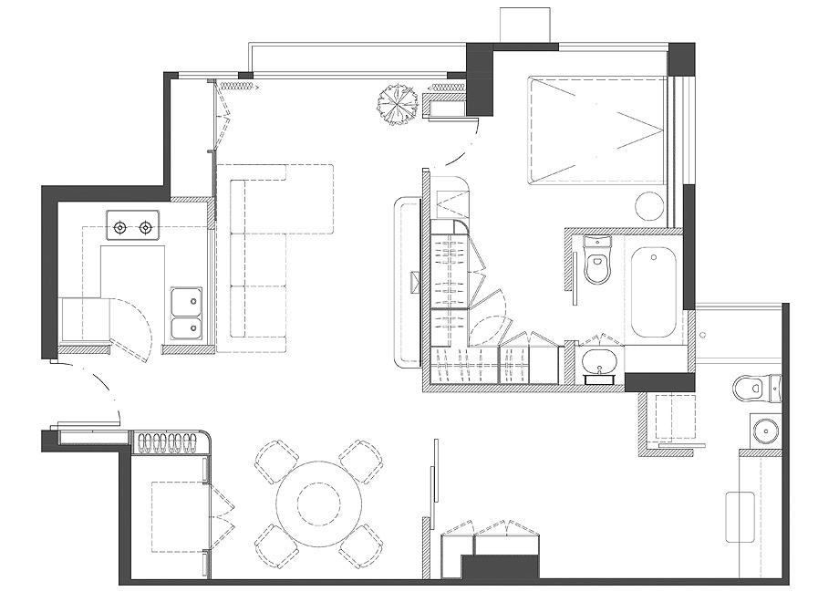 apartamento en hong kong de human w design - plano human w design (18)