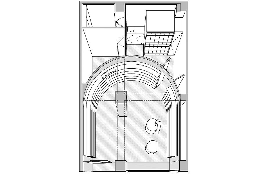 farmacia j3 de ciria alvarez arquitectos - plano axonometría (13)