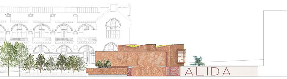 fundacion kalida tagliabue y urquiola - plano alzado fachada norte (8)