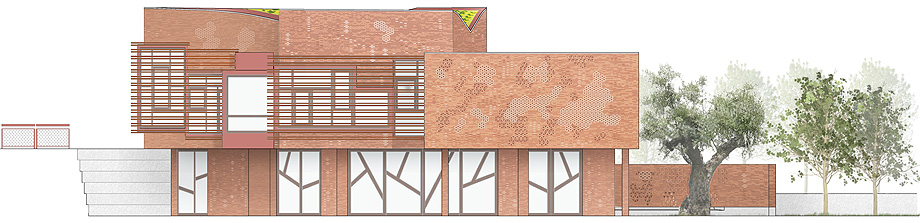 fundacion kalida tagliabue y urquiola - plano alzado fachada sureste (9)