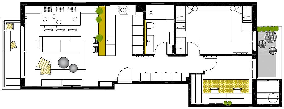 piso en manresa de minuscula interiorisme - plano (16)