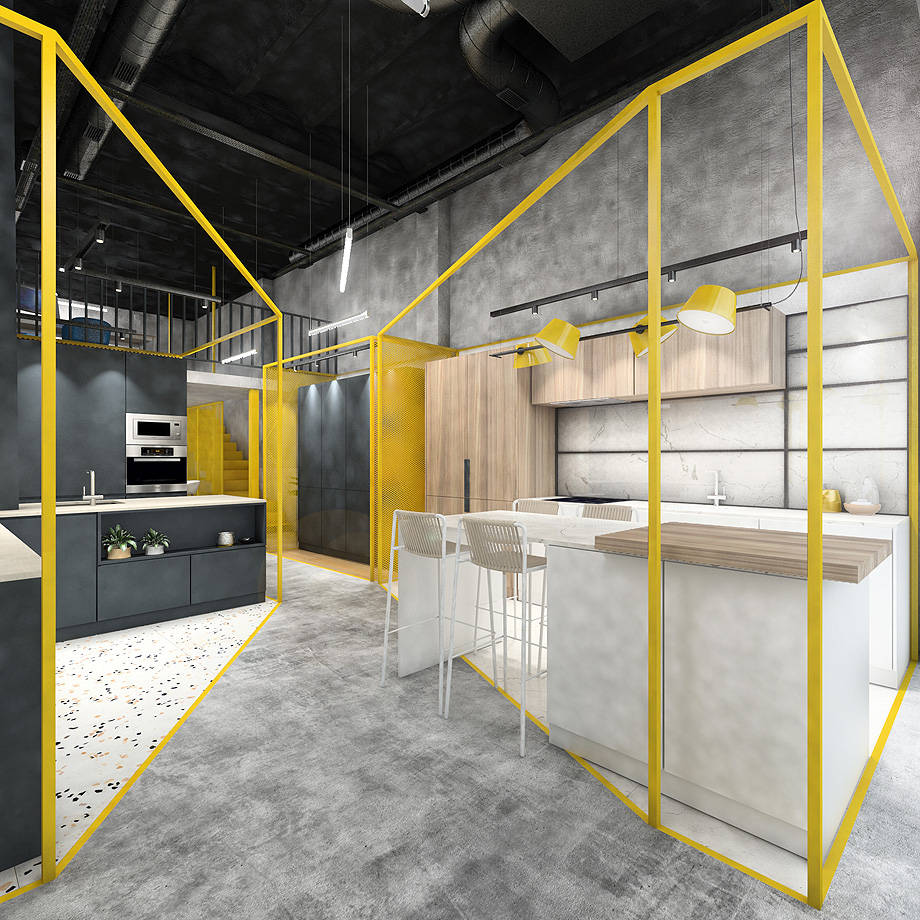 showroom cocinas bodelec en madrid de pentamera - renders (27)