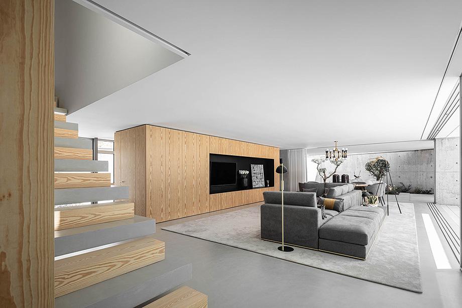 Casa A em Guimarães do atelier de arquitetura REM'A arquitectos com fotografia de arquitetura Ivo Tavares Studio
