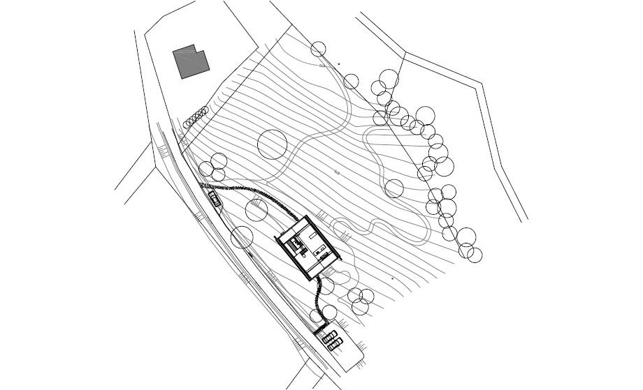 casa en las montañas beskydy de pavel micek - plano (16)