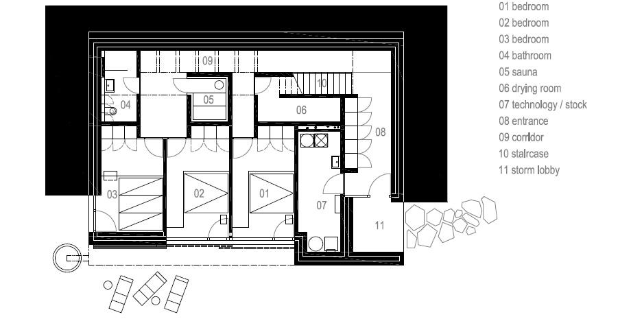 casa en las montañas beskydy de pavel micek - plano (17)