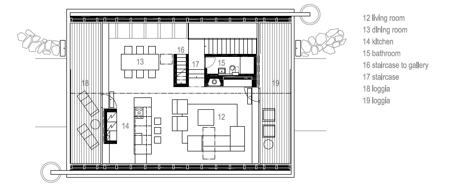 casa en las montañas beskydy de pavel micek - plano (18)